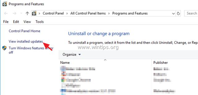remove updates windows