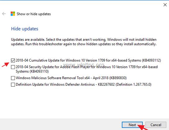 block update windows 10