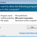 FIX: Do you want to allow the following program to make changes to this computer? in Word 2013 or Excel 2013 (Solved)