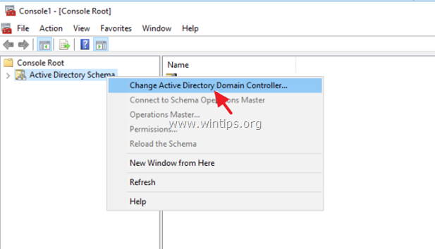 change active directory schema domain controller