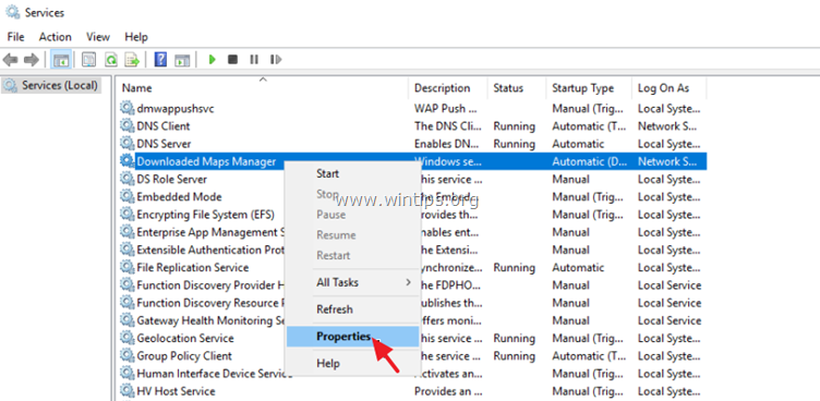 disable Downloaded Maps Manager Server 2016