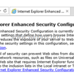 How to Disable Internet Explorer Enhanced Security Configuration in Server 2016
