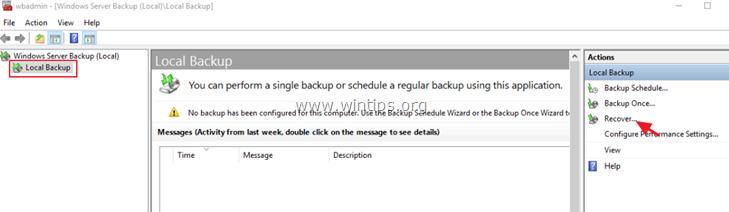 Restore files server 2016