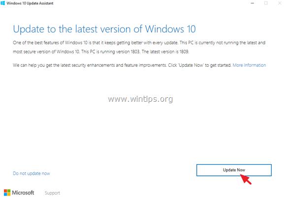 Windows 10 1809 installation failed