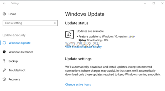 FIX: Windows 10 Update 1809 fails to install (Solved) - wintips org