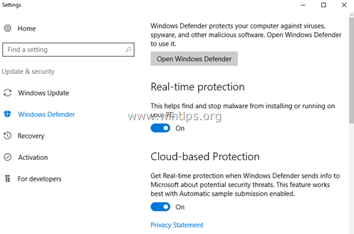 How to Disable or Remove Windows Defender Antivirus in Server 2016