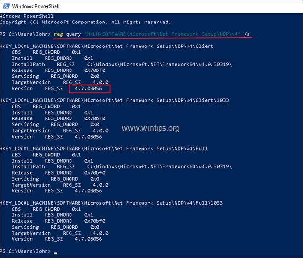 view net framework version