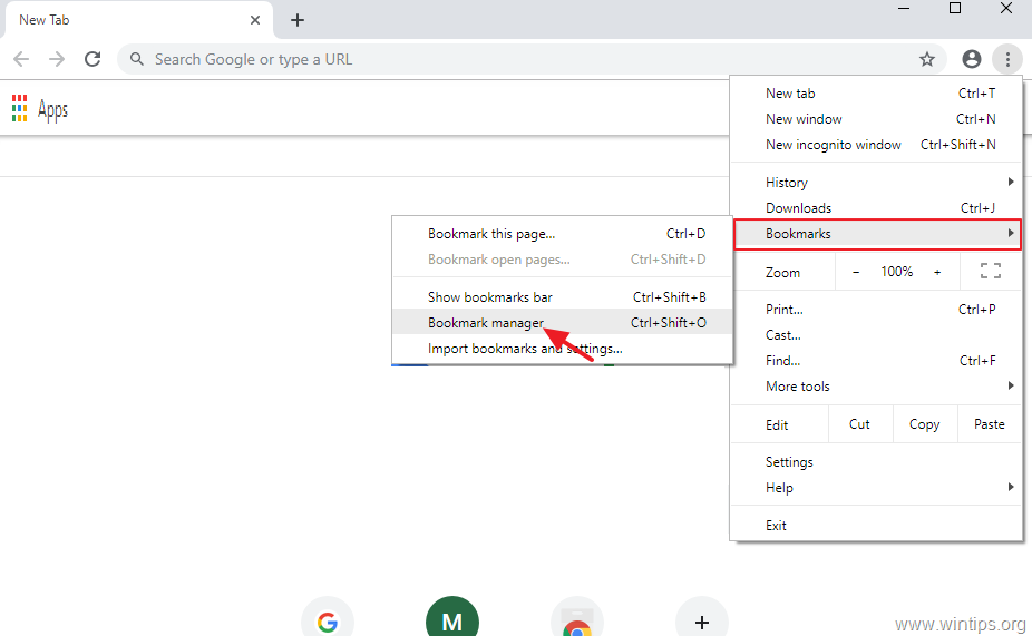 How to Backup & Restore Chrome Bookmarks (Favorites) - wintips.org -  Windows Tips & How-tos