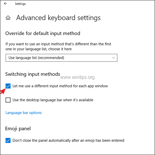 FIX Windows 10 Changes the Input Language to its Own