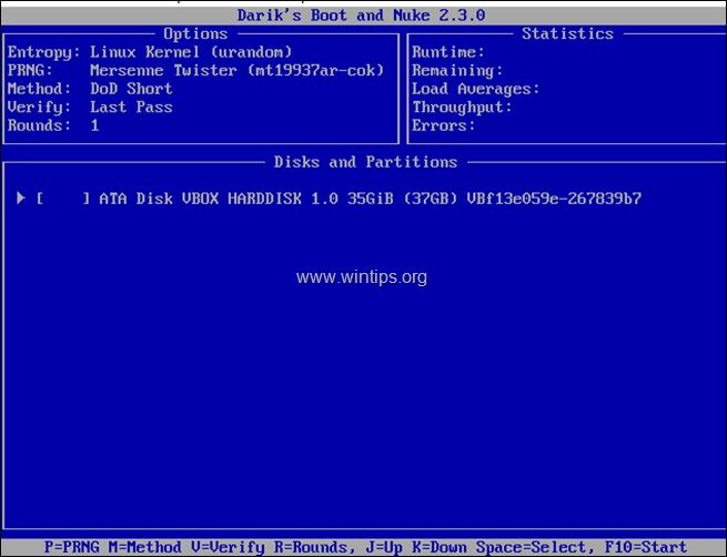 wipe hard drive - Darik's Boot and Nuke (DBAN)