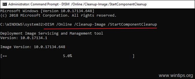 WinSXS-StartComponentCleanup