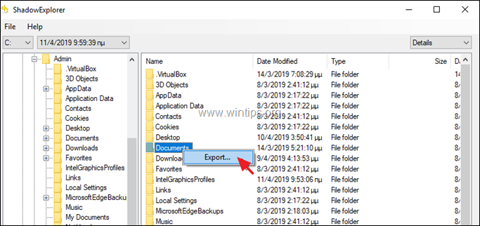 Windows 10 Restore Previous Versions - Shadow Explorer