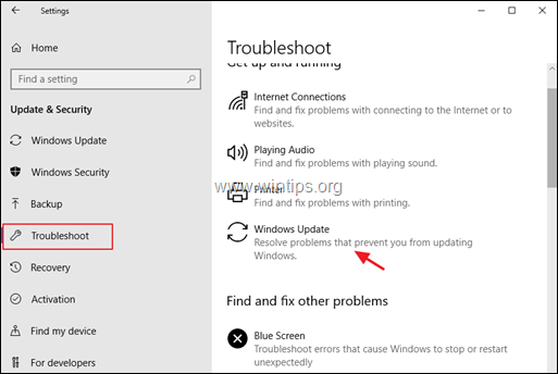 FIX: Windows 10 Update 1903 failed to install (Solved) - wintips org