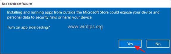turn off developer mode windows 10