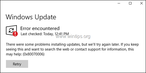 Windows 10 Update Service is Missing - 0x80070006 - 0x80070424