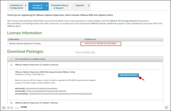 Download vSphere ESXi Hypervisor 6
