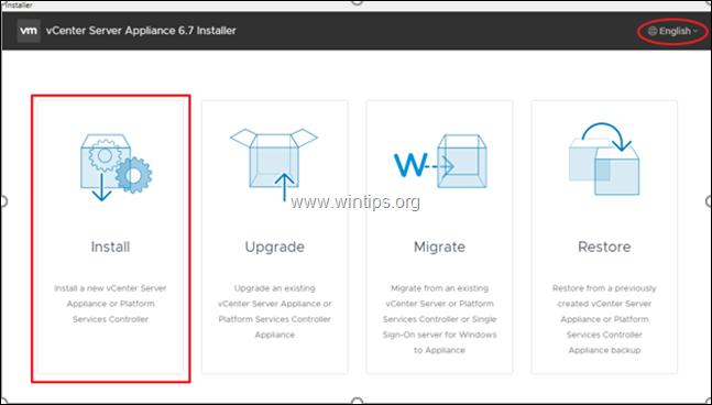 Install VCenter Server in VMware vSphere