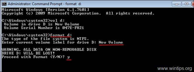 How to Format Hard Drive from Command Prompt