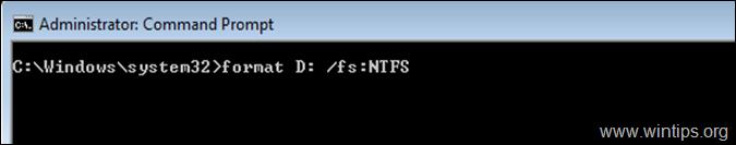 Format Hard Drive FileSystem Command Prompt