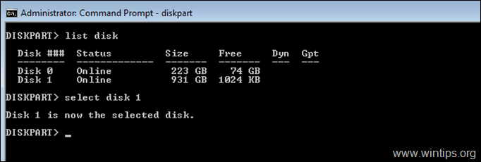 How to Format Hard Drive from DISKPART