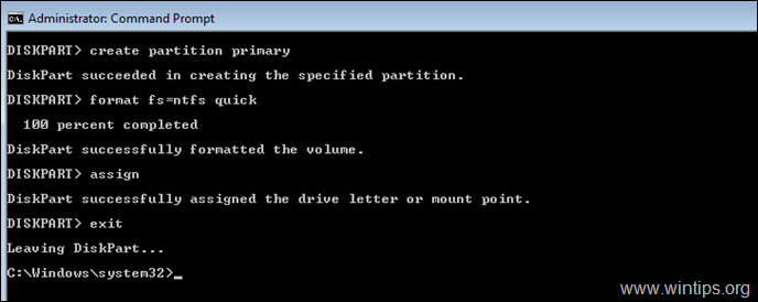 How to Format Hard Drive from Command Prompt or DISKPART