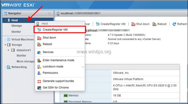 How to Create a Virtual Machine on vSphere Hypervisor ESXi 6.7