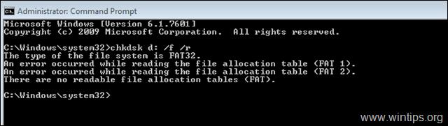 FIX: There are no readable file allocation tables - FAT
