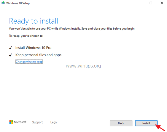 In-Place Repair/Upgrade Windows 10