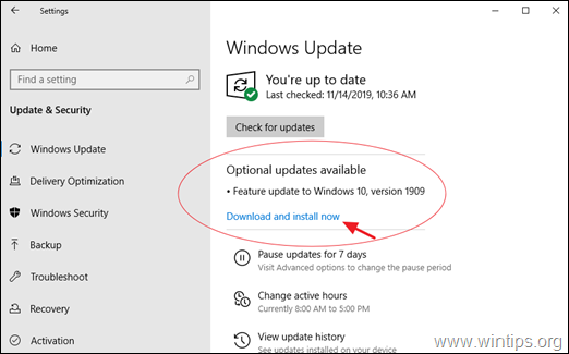 How to Download and Install the Windows 10 Feature Update 1909