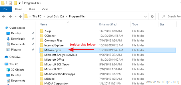 Delete Malwarebytes