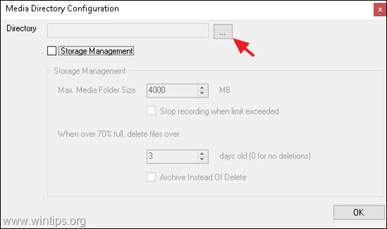 Change storage location iSpy