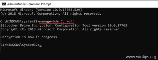 Disable BitLocker on Drive - Windows 10