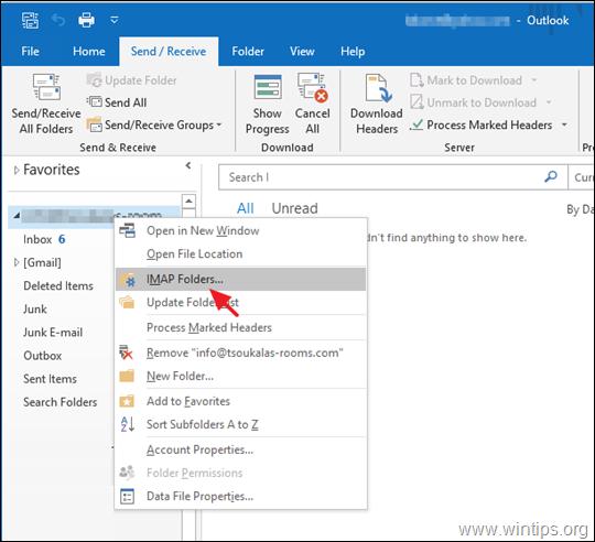 FIX IMAP folders Not Showing in Outlook
