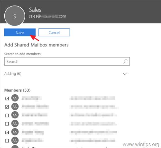 Add Shared Mailbox members