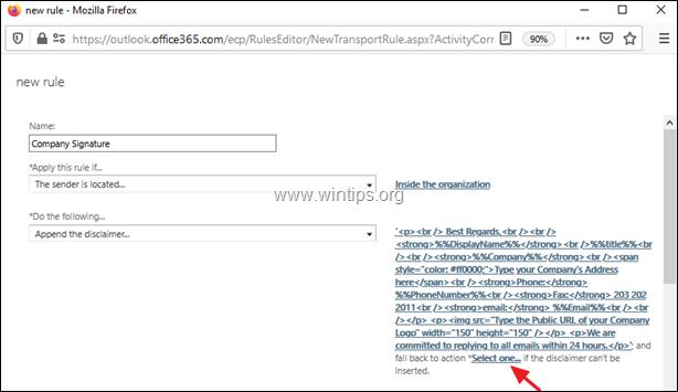 Customize Signature - Office 365