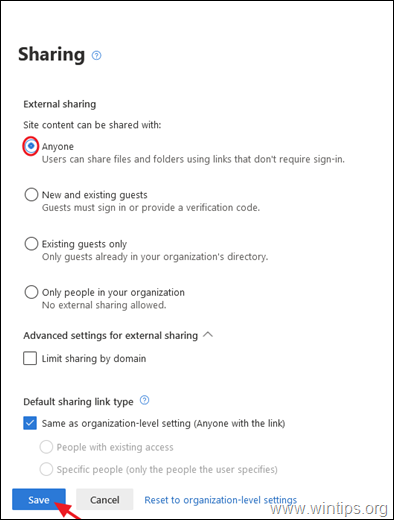 SharePoint Sharing With Anyone