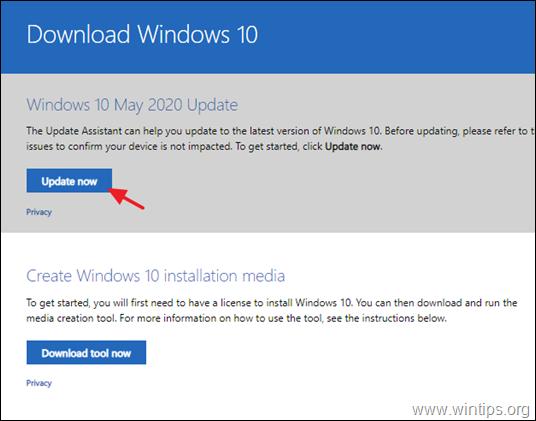 FIX: Windows 10 Update v2004 fail