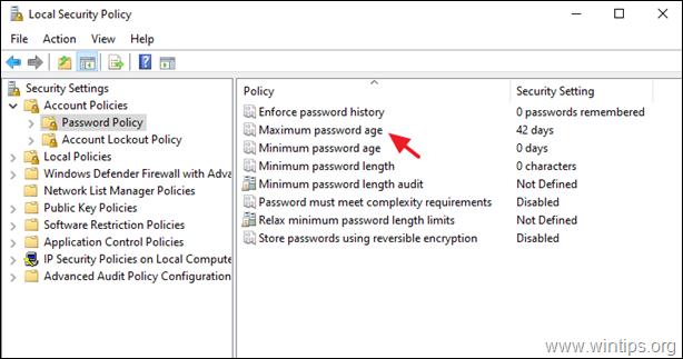 Password Expiration Policy