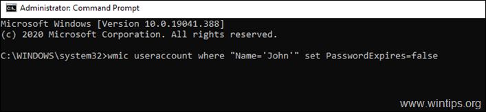 Enable password expiration command