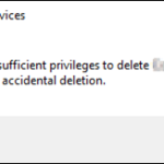FIX: Object is Protected from Accidental Deletion. You do not have Sufficient Privileges to Delete OU (Solved)