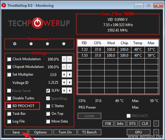 FIX Slow CPU Performance with ThrottleStop
