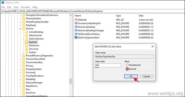 AutoPlay Registry key