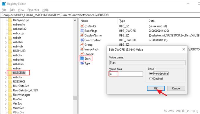 Block USB Storage Devices in Windows.