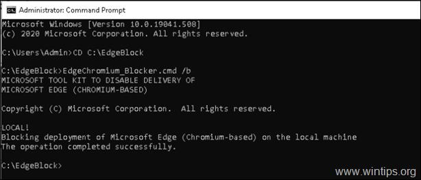 Prevent Edge Chromium - Blocker Toolkit