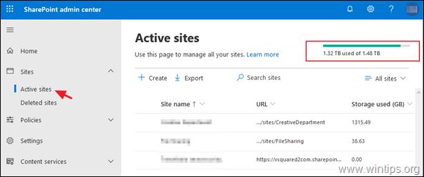 View Storage Size SharePoint