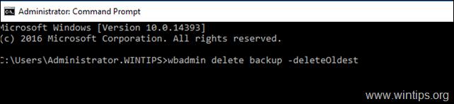 delete oldest full backup