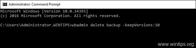 delete full server backup