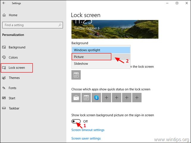 Change Lock Screen Background