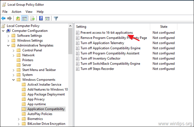 Allow to Run 16-bit Applications - Group Policy