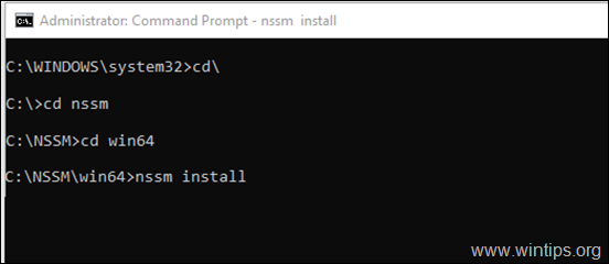 Install Service nssm